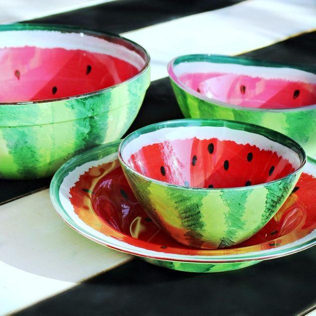 Watermelon Bowls Diy Hometalk