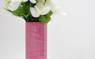 easy 5 minutes marbled vase, crafts, how to, painting