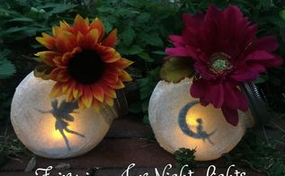 fairy in a jar night lights, crafts, decoupage, how to