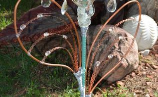 glass garden totem, crafts, gardening, how to, repurpose household items