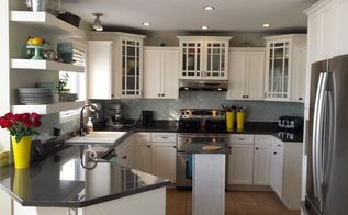 diy kitchen makeover painted counters backsplash cabinets epoxy, countertops, kitchen backsplash, kitchen cabinets, kitchen design, painting