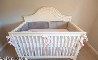 pink gray nursery reveal, bedroom ideas, home decor