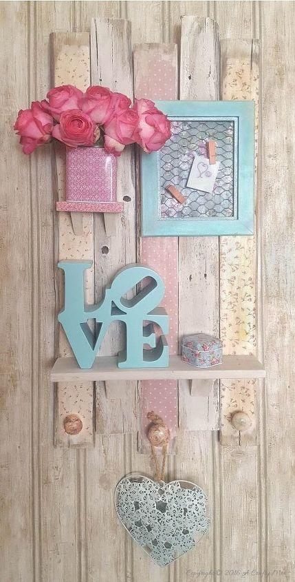 Make a scrapbook pallet shelf hometalk for Pallet shabby chic
