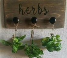 farmhouse style herb drying rack, crafts, gardening