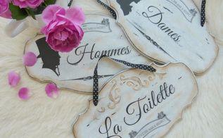 charming door signs for cocotte bistro, crafts, doors