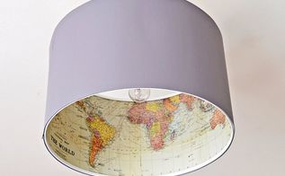 ikea lamp hack with maps, crafts, decoupage, how to, lighting