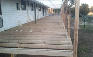 the start of our read deck , decks, outdoor living, woodworking projects