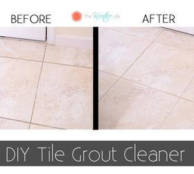 How do you clean tile grout on floor
