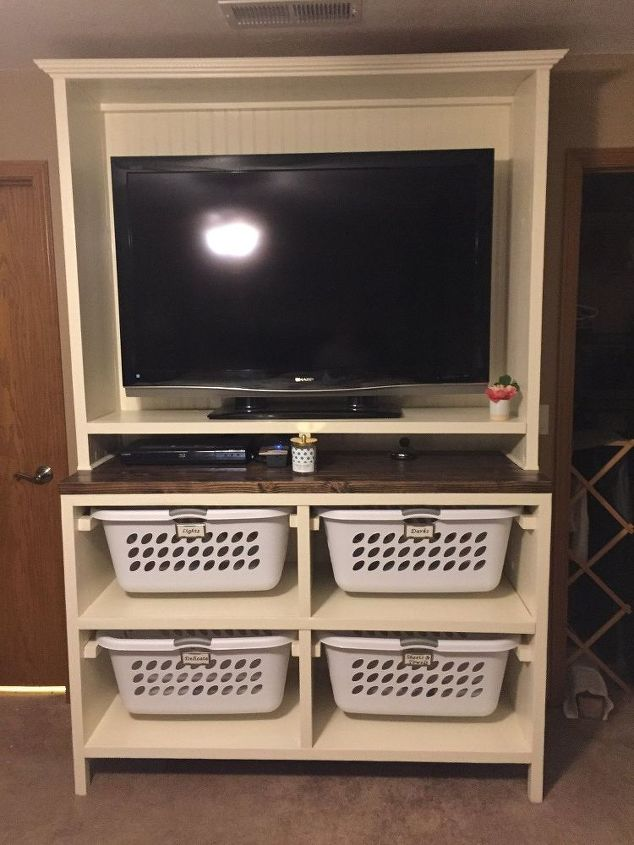 Diy Dual Purpose Bedroom Entertainment Center Tv Stand