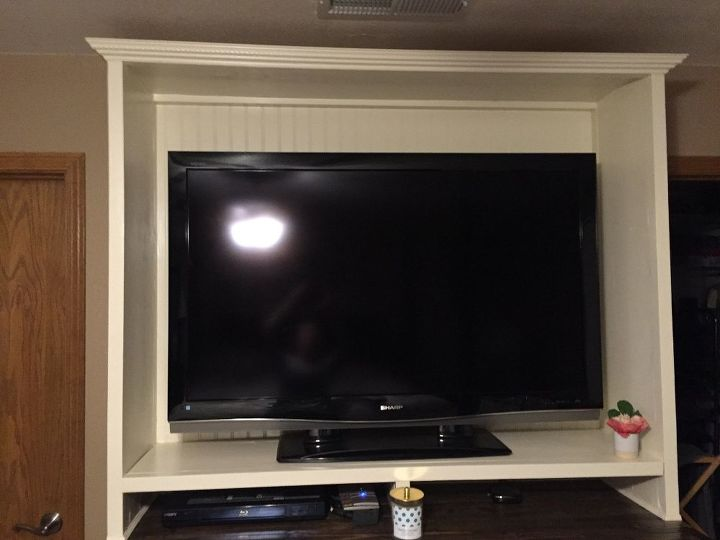 Diy dual purpose bedroom entertainment center tv stand hometalk for Bedroom entertainment center