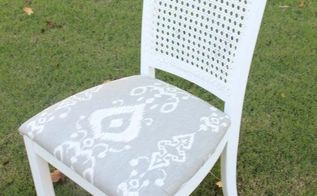 diy thrifted and distressed cane chair makeover, how to, painted furniture, reupholstoring, reupholster