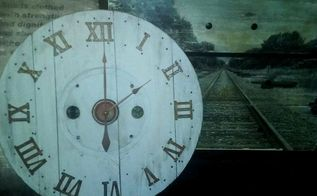 cable spool clock, chalk paint, how to, painting, repurposing upcycling