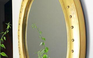 diy nautical porthole mirror, how to, painting, wall decor