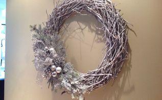 winter twig wreath, crafts, wreaths