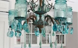 how to make an elegant farmhouse mason jar chandelier, crafts, how to, lighting, mason jars, repurposing upcycling