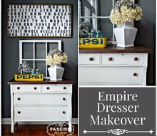 empire dresser makeover from beat up to beautiful, painted furniture