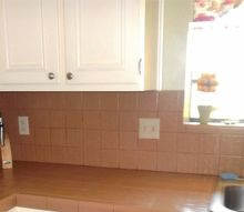 q any ideas on these , cosmetic changes, countertops, home improvement, tiling, Look at these ugly tiles kitchen is full of them