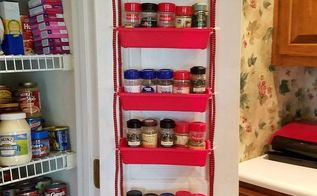 pantry door spice rack, closet, crafts, doors, how to, organizing, storage ideas
