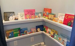 rain gutter bookshelves, crafts, how to, organizing, repurposing upcycling, shelving ideas