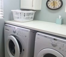laundry diy makeover, how to, laundry rooms, painting, shelving ideas, tiling