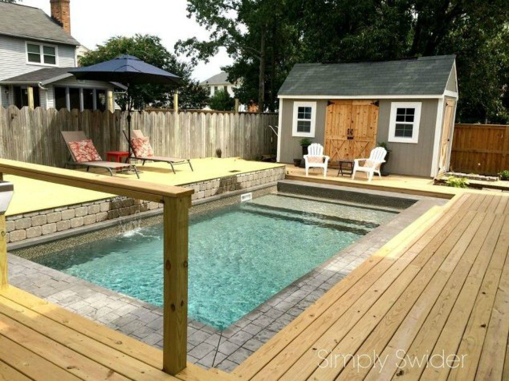 You still have time to get the backyard oasis of your for Diy pool house plans