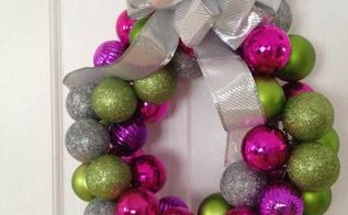 easy ornament wreath for christmas, christmas decorations, crafts, how to, seasonal holiday decor, wreaths