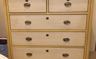 raised stencil to give plain drawers some design, painted furniture