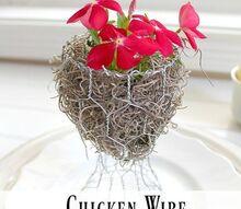 chicken wire planter guest gift idea, container gardening, crafts, gardening, how to