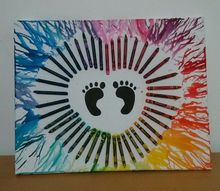 adorable crayon art for baby s room, bedroom ideas, crafts, how to