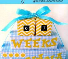 grandparents new baby arrival countdown, crafts, how to, repurposing upcycling