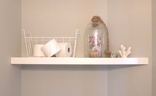 ikea lack hack built in look shelf , bathroom ideas, how to, shelving ideas