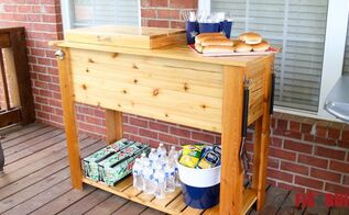 entertain and cook in style with a patio cooler grill cart combo, how to, outdoor furniture, outdoor living, patio, woodworking projects