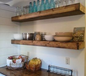 Wonderful Space Saver Kitchen Design #10: Add Floating Shelves For Extra Space