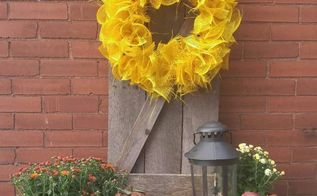diy rustic barn style shutter and wreath, crafts, how to, pallet, repurposing upcycling, wreaths
