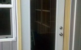 an old screen door made new again for our deck , decks, doors, how to, painting
