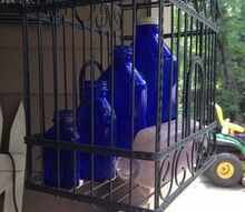 all caged up , crafts, outdoor furniture, outdoor living, True blue