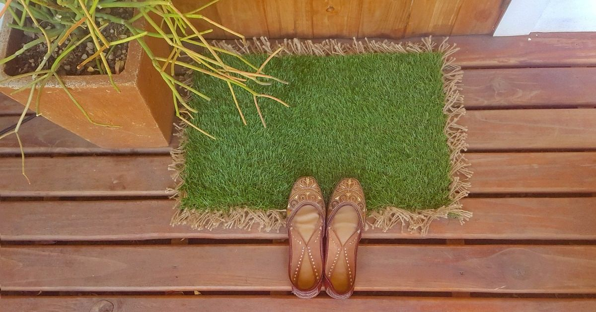 Make a custom doormat to keep the dirt out hometalk for What is dirt made out of