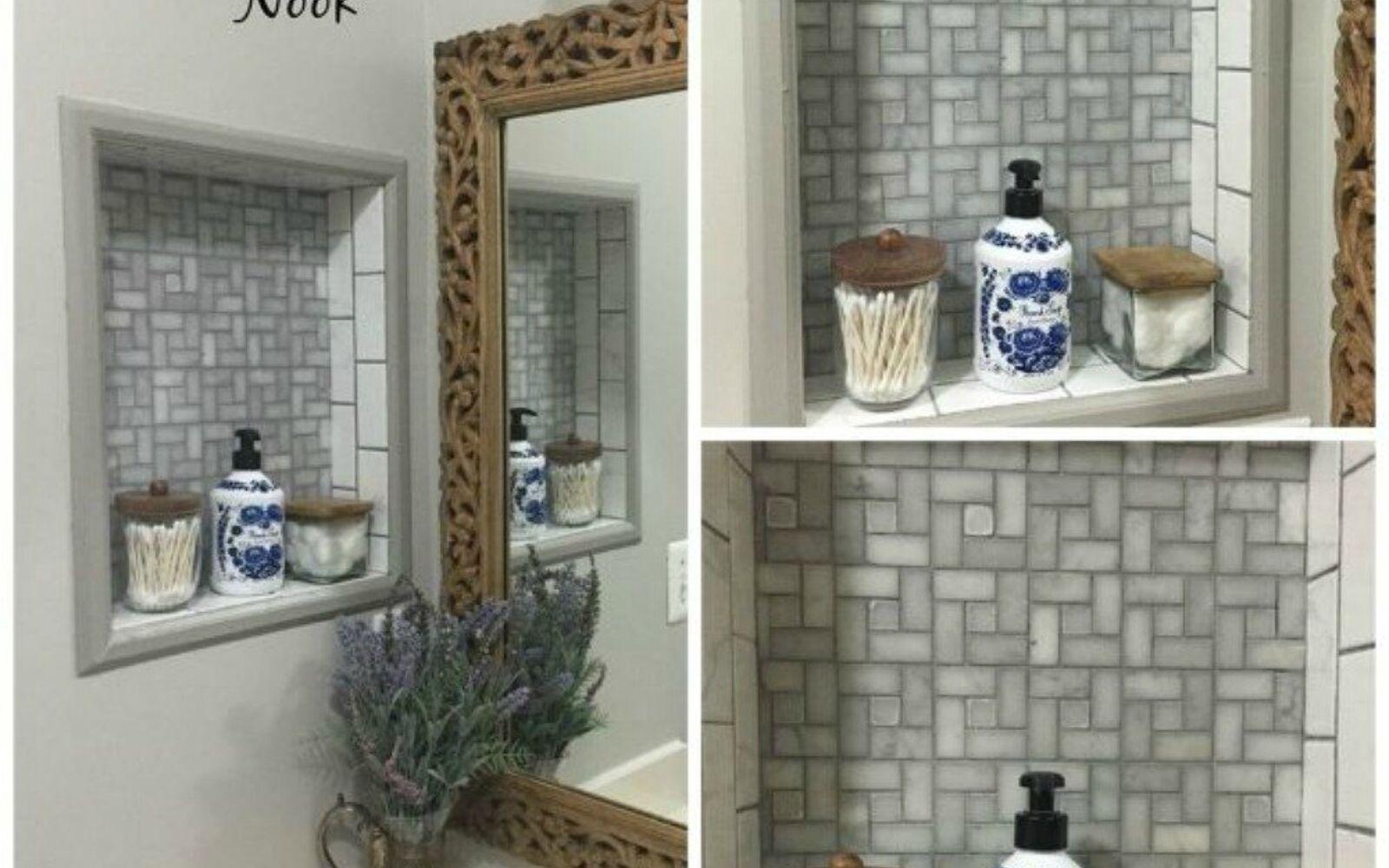 Bathroom Nook 14 mesmerizing ways to use tile in your bathroom | hometalk