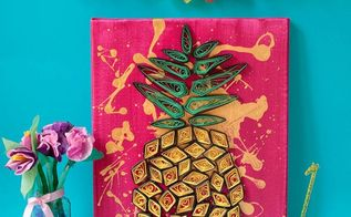 pineapple wall art, crafts, how to, wall decor
