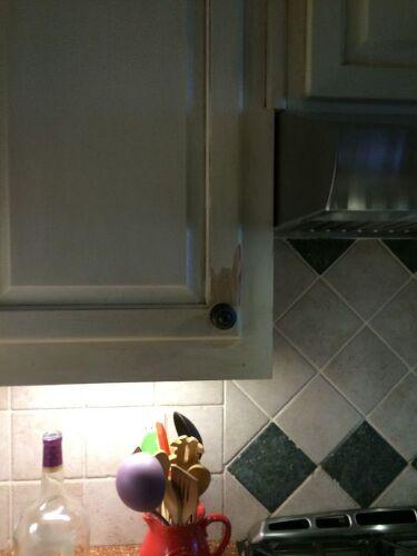 Chipped kitchen cabinet   Hometalk