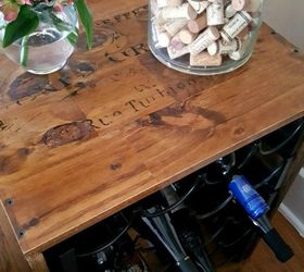 thrift store upcycle wine rack end table how to living room ideas painted