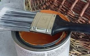 turn your old basket lids in to pumpkins for fall , crafts, repurposing upcycling, seasonal holiday decor