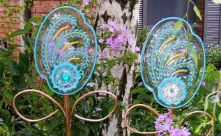 glass florals for the hometalk challenge , crafts, painting, repurposing upcycling