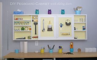 diy garage wall cabinet with sliding door, craft rooms, garages, how to, organizing, shelving ideas, woodworking projects