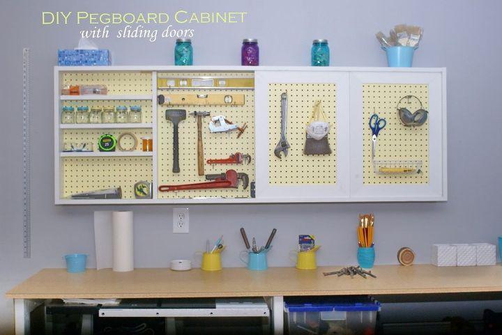DIY Garage Wall Cabinet With Sliding Door | Hometalk