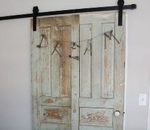 vintage doors to the rescue in our guest room update , bedroom ideas, doors, The 2 doors into one