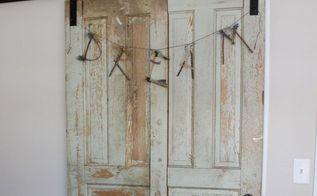vintage doors to the rescue in our guest room update , bedroom ideas, doors, The 2 doors into one