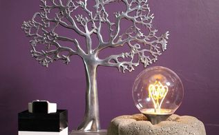 concrete light bulb lamp, concrete masonry, crafts, how to, lighting