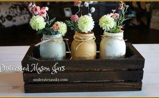 distressed painted mason jars, crafts, mason jars, painting