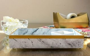 faux marble tray an easy diy, crafts, how to, painting